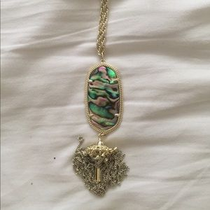 Kendra Scott abalone and gold rayne necklace